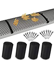 pedkit 4-delige dakgootbescherming mat 6 m incl. klemmen rooster afdekking bladbescherming dakgoot bescherming bladvanger