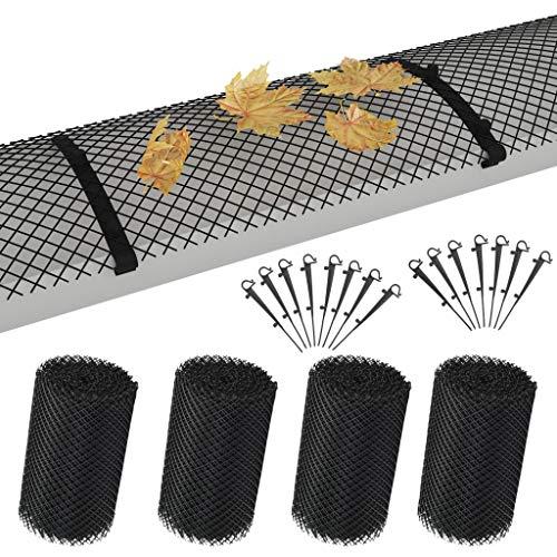 pedkit 4-TLG. Dachrinnenschutz Matte 6m inkl Klammern Gitter Abdeckung Laubschutz Dachrinne Schutz Laubfang Laubstop