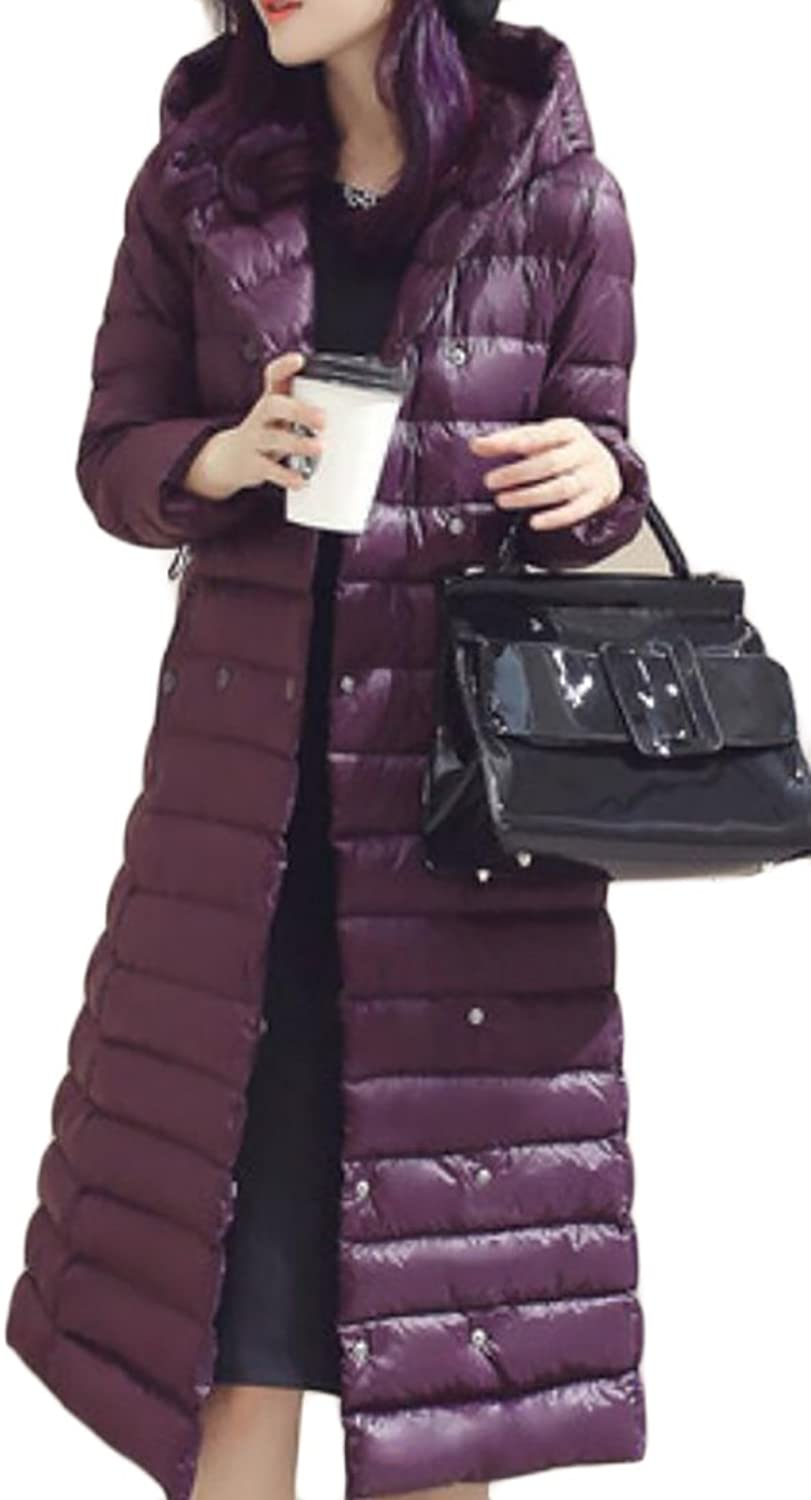 SFly Women Warm Hooded Lightweight Quilted Puffer Down Coat Jacket