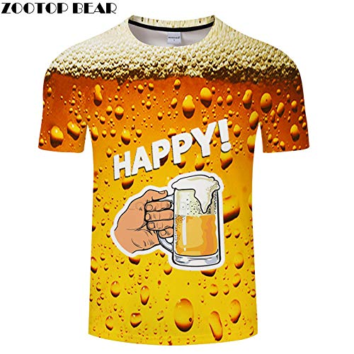 T-Shirt T-Shirt pour Hommes Imprimé en 3D Streetwear Tops Chemise décontractée à la Mode T-Shirt Respirant Asian4Xl Txkh3065