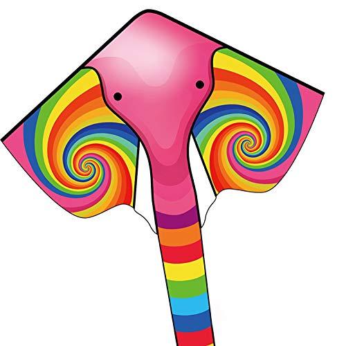 HAOMARKカイト凧凧揚げスポーツカイト象アウトドアおもちゃスカイカイト紙鳶糸巻き収納バッグ付き屋外子供大人アウトドア公園ビーチアウトドア野外フェスお祭り