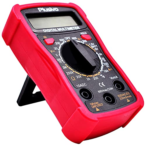 Digital Multimeter for Measuring Voltage, Resistance, Current, Continuity, Battery and Diode Multi Tester with Premium Probes, Backlight, Case, Stand from Plusivo