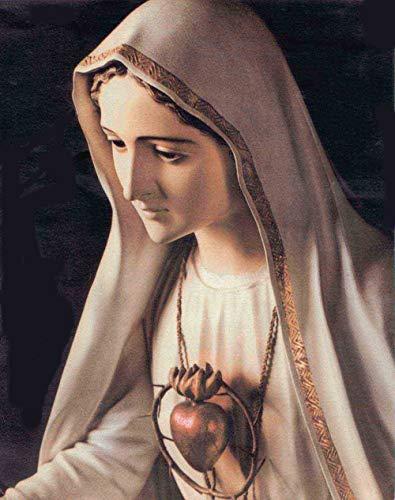 VNKLIN Buen Arte Bendita Virgen María María Madre 100% Pintura Al Óleo Pintada A Mano sobre Lienzo # 24 Pulgadas