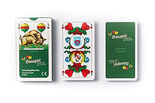 4 x Schafkopfkarten Bayerisches Bild von Sauspiel