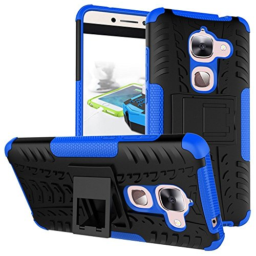 LeEco Le S3 Case, LeEco Le 2 Case, Skmy Shockproof Impact Protection Tough Rugged Dual Layer Protective Case Cover with Kickstand for LeTV LeEco Le 2 X620 / LeEco Le 2 Pro (Blue)