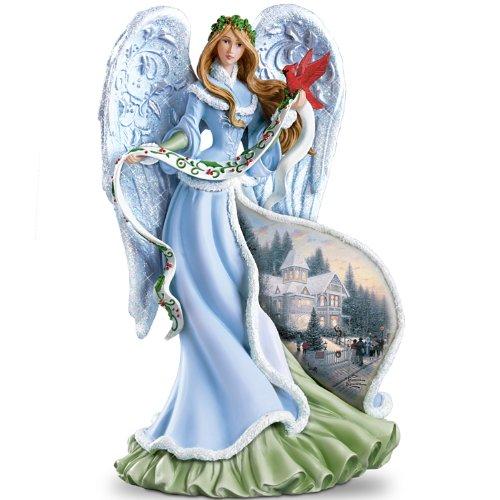 The Bradford Exchange Thomas Kinkade Holly Angel Figurine