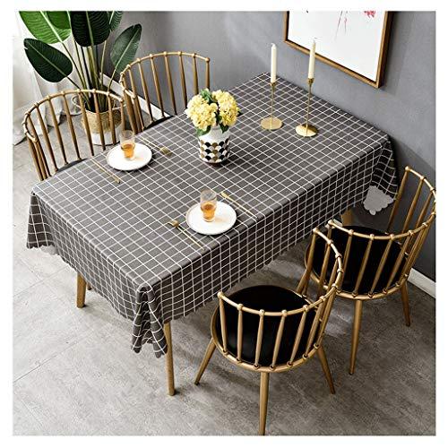 Waterdicht PVC-tafelkleed wegwerpwasnet rood tafelkleed geruit tafelkleed koffietafelkleed in Scandinavische stijl Liuyu.