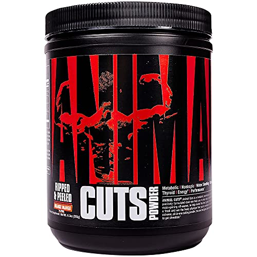Animal Cuts Powder - Metobolic Enhancer, Nootropics, Carnitine, Tyrosine, Diuretic, Great Tasting, Orange Mango, 42 Count