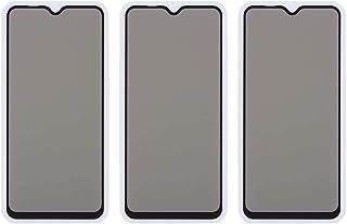 شاشة حماية زجاجية لاصقة للحفاظ على الخصوصية لموبايل سامسونج جالاكسي M20 من دراجون، 3 قطع - اسود