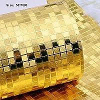 ウォールステッカー飛行機ウォールステッカー装飾的な金色の銀色の小さなモザイクの壁のステッカー家の装飾壁飾り壁のKTVバーの壁紙天井天井明るい金箔箔の壁紙 (Color : A)