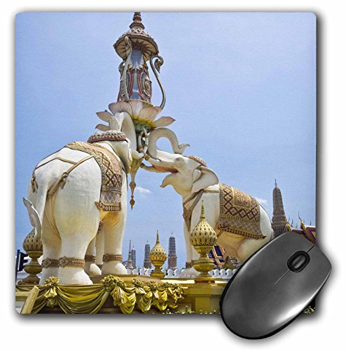3drose Thailand, Bangkok, Triple Elephant Statue - Brenda Tharp - Mouse Pad