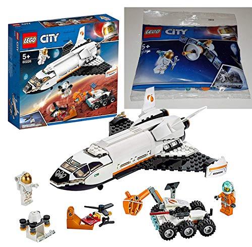 LEGO 60226 - City Mars-Forschungsshuttle, Bauset 30365 Raumfahrtsatellit Bausteine, Bunt