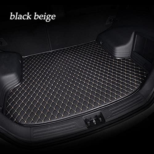 Kofferraummatte für BMW Alle Modelle X3 X1 X4 X5 X6 Z4 E60 E84 E83 E70 E90 E53 G30 E34 F30 F10 F11 F25 F15 F34 E46 Kofferraumwanne Matte Ladekantenschutz Kofferraumschutz Autozubehör-Schwarz Beige