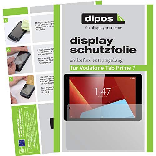 dipos–Protector de pantalla compatible con Vodafone Tab Prime 7(2unidades, antirreflectante), mate