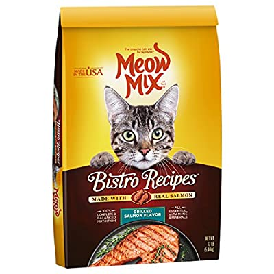 Meow Mix Bistro Recipes Grilled Salmon Flavor Dry Cat Food - 12 Lb