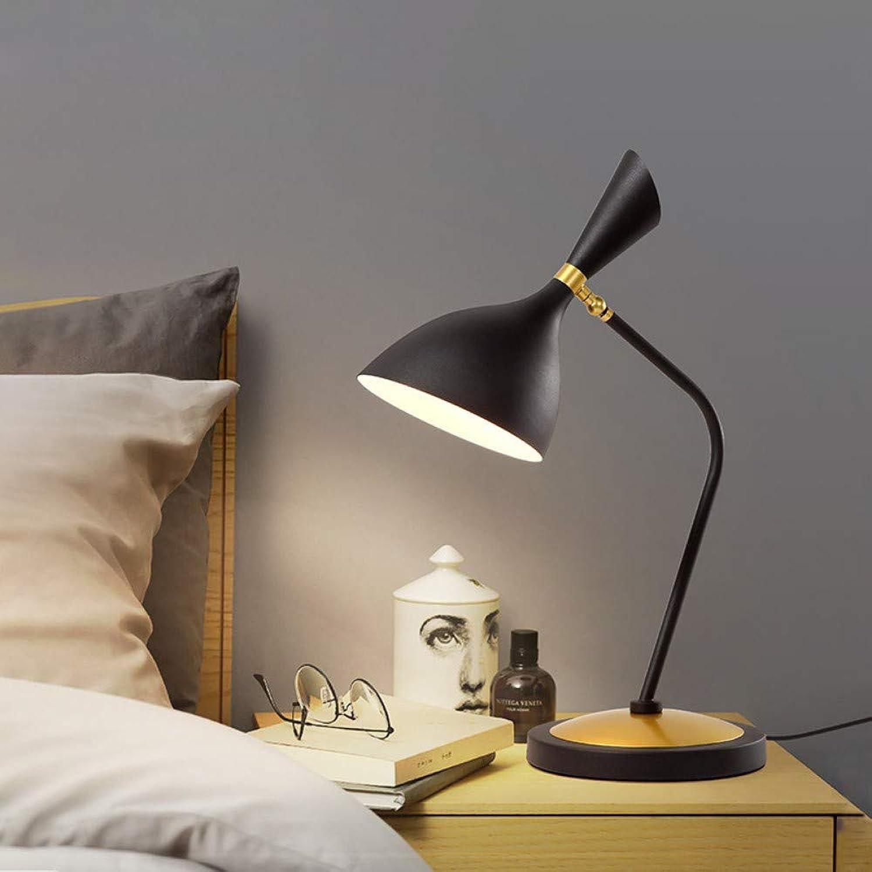 LED Büro Tischleuchte dimmbar Touchbedienung USB-Anschluss, Energiesparauge, schwarz Minimalist Stoff Nachttisch-Leuchte für Schlafzimmer, Kaffeetisch and Büro