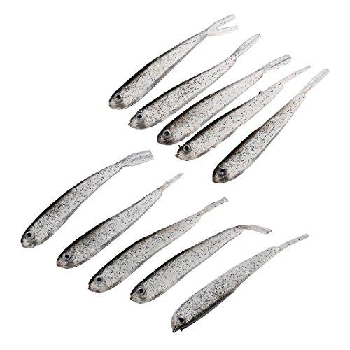 TOOGOO(R) 10 Pcs de Cebo artificial de los pescados Cebo suave de la crema del siliccona oscuridad baja