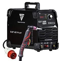 ACIÉRIE CUT 60 Pilot IGBT Coupe-plasma à 60 ampères et pilote, jusqu'à 24mm de débit de coupe, pour tôles vernies & grille volante, garantie du fabricant 7 ans