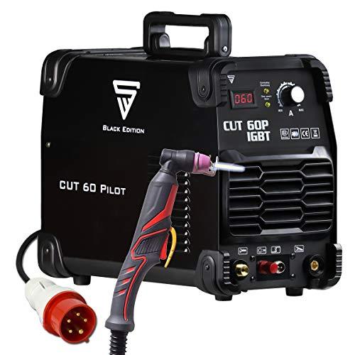 STAHLWERK CUT 60 Pilot IGBT Plasmaschneider mit 60 Ampere und Pilotzündung, bis 24mm Schneidleistung, für Lackierte Bleche & Flugrost, 7 Jahre Herstellergarantie