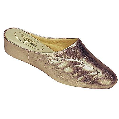 Cincasa Menorca Mahon - Zapatillas de Estar por casa para Mujer (41/Gris Metalizado)