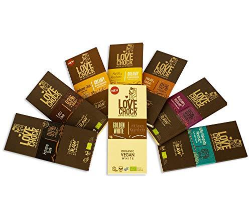 Lovechock Schokoladen Tafel | BIO | Rohkoste | Bundle | 8 x 70g