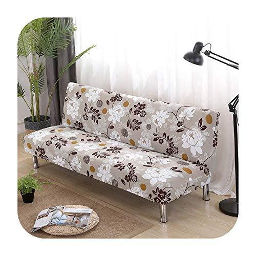 Hylshan Funda de sofá todo incluido, floral, sin reposabrazos, para sofá cama, funda elástica y protectora, funda de sofá