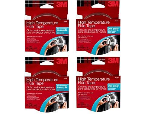 3M High Temperature Flue Tape, 15-Foot Roll, 4-ROLL