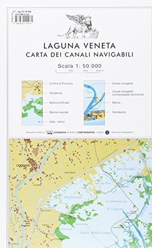 Laguna veneta. Carta dei canali navigabili 1:50.000