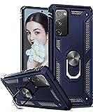 LeYi Hülle für Samsung Galaxy S20 FE 4G/5G,360 Grad Ring Halter Handy Hüllen Cover Bumper Schutzhülle für Hülle Samsung Galaxy S20 FE (Fan Edition) 4G/5G Handyhülle Blau