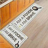 HLXX Alfombrillas de Piano con diseño de Notas, Alfombrillas para Puertas de casa, alfombras de Piedra de Animales, alfombras de Colores Impermeables, Cocina A13 40x60cm