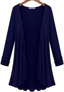 New Women Fashion Cotton Top Thin Blouse Long Sleeve Summer Cardigan Sweater Coat Big Size Flounce Plus Size
