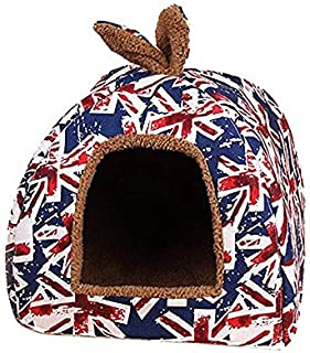 Nrpfell Niche House Warm beds for pet Puppy cat Winter-Union Jack