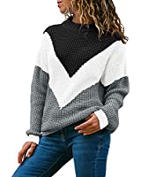 Alsol Lamesa Women's Pullover Sweaters Crew Neck Long Sleeve Casual Knit Sweater