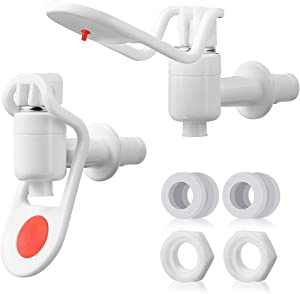 AIEVE Spigot for Beverage Dispenser, 2 Pack Replacement Bucket Spigot Water Spigot Dispenser Spigot Water Spicket for 1 Gallon Glass Beverage Dispenser, Juice Dispenser, Drink Dispenser for Party