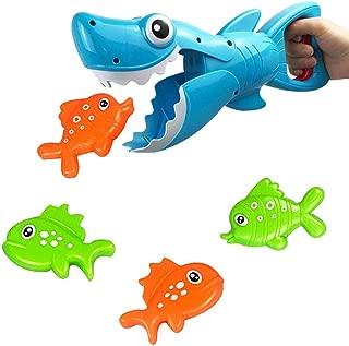 RIsxffp 19 Unids//Set Animal Juguetes de ba/ño Mu/ñeca Juguete del ba/ño del apret/ón del beb/é de la regadera chillona de la Red de la Pesca del tibur/ón 19Pcs//Set