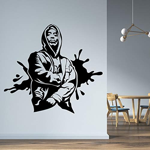 wZUN Hip Hop y Rap Icon Etiqueta de la Pared Rapper Family Dormitorio Arte de la Pared Decoración 85X79cm