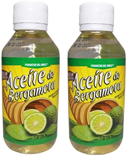 Aceite de Bergamota y Llavero 2Pack 100% Natural Bergamot Oil 120 ml and Key Ring Helps the growth of Beard and Mustache.