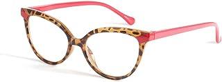 Reading glasses Anti-blauw Licht voor Dames, Volledige Kaderkat Oogluipaard, Anti-vermoeidheid en Anti-UV