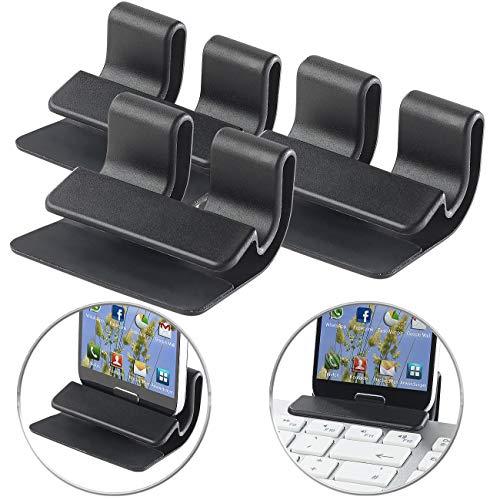 PEARL Smartphone-Clips: 3er-Set Universelle Smartphone-Clip-Halterungen bis 2 cm Dicke (Handy-Halterung für Tastatur)