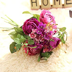 Artificial and Dried Flower Ranunculus Asiaticus Lepech Hydrangea Artificial Flowers Bouquets for Wedding Home Party Decoration Festive Supplies
