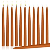 Orange Dripless Taper Candles 10