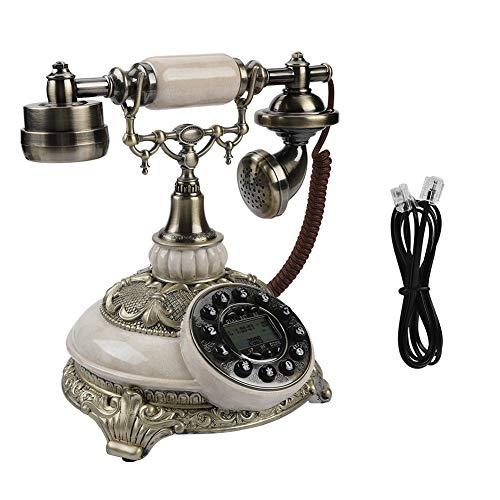 Socobeta Teléfono Antiguo Vintage FSK/DTMF Registros de Llamadas de 38 Grupos Remarcado de un botón Teléfono Antiguo