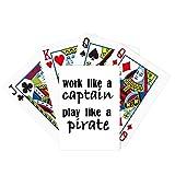 Trabaja como capitán jugar como pirata póker jugar magia tarjeta juego de mesa divertido
