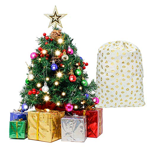 Joiedomi 24' Prelit Tabletop Christmas Tree with Decoration Kit and Gift Box Decoration, Mini Artificial Christmas Tree for Tabletop Decorations