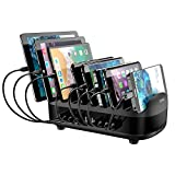 ORICO 120W Charging Station for Multiple Devices 10 Ports Smart USB Charging Docking Organizer with Cooling Fan Compatible for iPhone, iPads, Samsung, Android Phone and Tablets (Cables not Included)