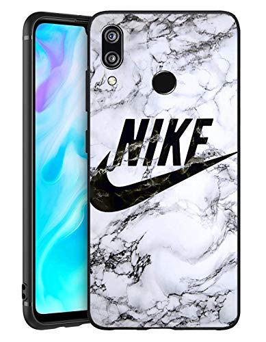 Just Do It Logo Huawei P Smart 2019 Funda, Carcasa Silicona Protector Anti-Choque Ultra-Delgado Anti-arañazos Case Caso para Teléfono Huawei P Smart 2019, Mármol
