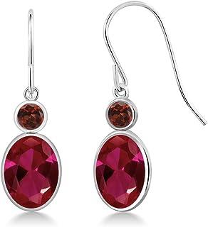 Redwood Stone Drop Earrings Drop Earrings Red Earrings Gemstone Earrings Minimalist Earrings Red Earrings Simple Everyday