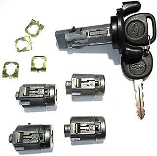 or 2002-2007 Chevrolet Express/GMC Savana Van Ignition Switch Lock Cylinder + Four (4) Door Lock Cylinders W/2 Chevy Bow-Tie Logo Keys 704600 & 706591