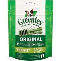 Contains One (1) 3-Oz., 11-Count Pack Of Greenies Original Teenie Dog Dental Chews The Unique Texture Of Greenies Dog Chews Cleans Down To The Gum Line To Fight Plaque And Tartar And Freshen Breath Greenies Treats For Dogs Are Veterinarian Recommende...