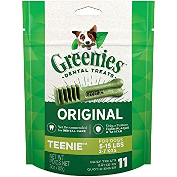 Greenies Original Dental Teenie Treats for Dogs 5-15 pounds 11 Count